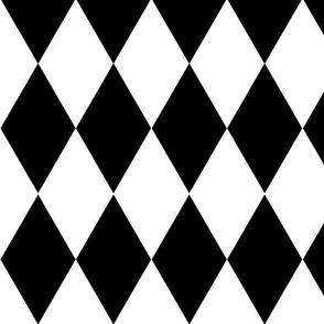 harlequin / black and white
