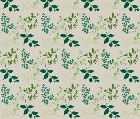 leaves / bone fabric by paragonstudios on Spoonflower - custom fabric