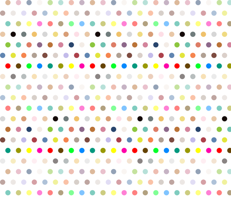 Dots on white fabric by creative_merritt on Spoonflower - custom fabric