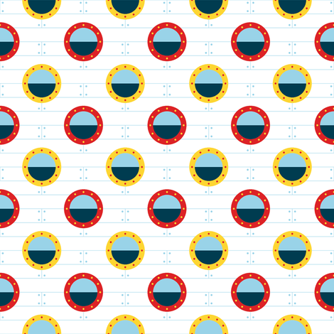 port-hole polka-dot fabric by sef on Spoonflower - custom fabric