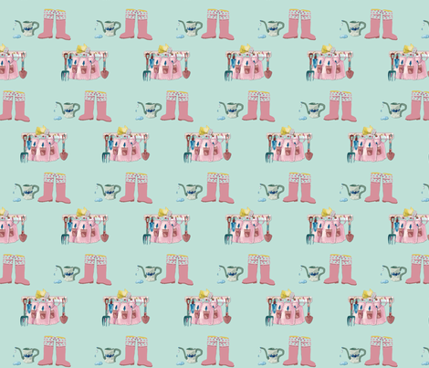 Garden Time fabric by karenharveycox on Spoonflower - custom fabric