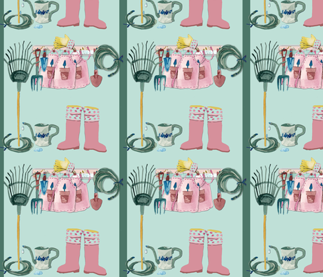 Garden Shed fabric by karenharveycox on Spoonflower - custom fabric