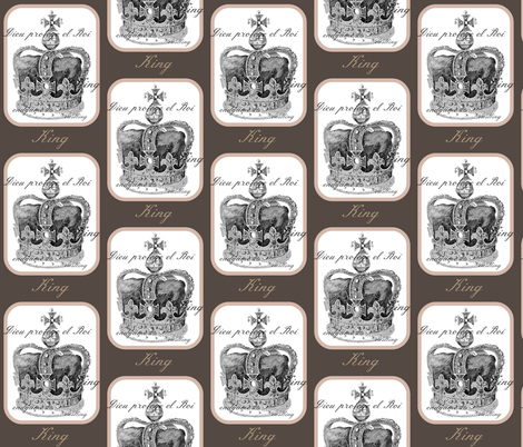 Chess King fabric by walkwithmagistudio on Spoonflower - custom fabric