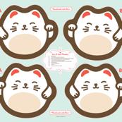 """Cut-&-Sew Plushie: 14"""" Maneki Neko (Lucky Cat)"""