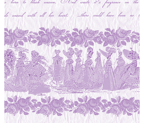 Jane Austin Says Border Print  in African Violet