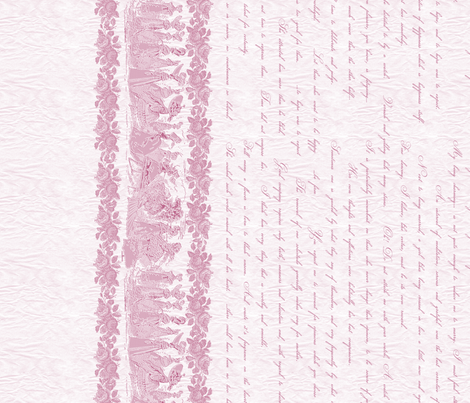 Jane Austin Says Border Print in Rose fabric by miart on Spoonflower - custom fabric