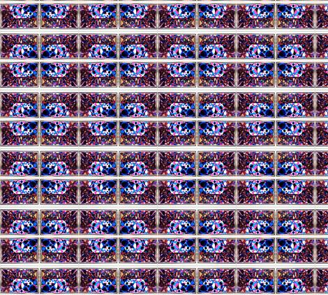 geo prison art hair protector fabric by algebraworks on Spoonflower - custom fabric