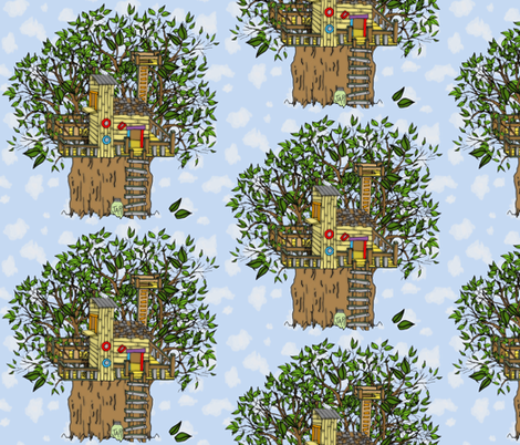 treehouses! fabric by joojoostrees on Spoonflower - custom fabric