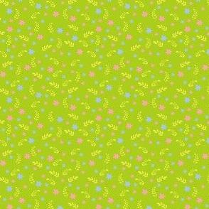 Ditsy green bee