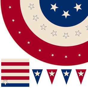 "Retro Americana 54"" Round Tablecloth"