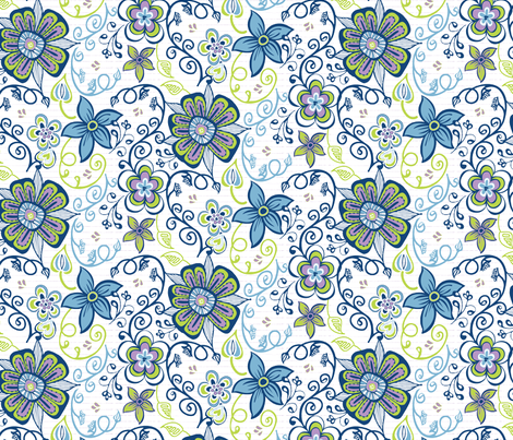 Pin Flower fabric by kari_d on Spoonflower - custom fabric