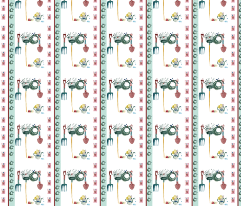 Garden Seeds Stripe fabric by karenharveycox on Spoonflower - custom fabric
