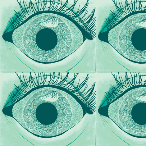 eye see you fabric by iamseamonster on Spoonflower - custom fabric