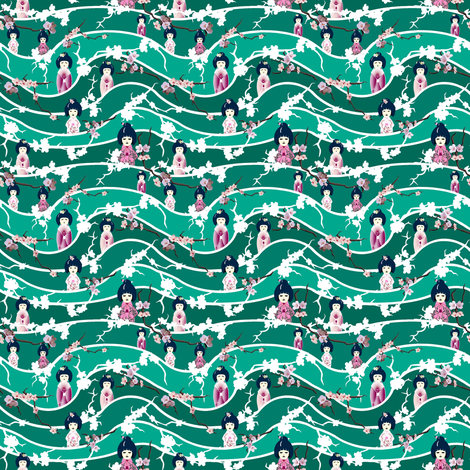 In the Wings fabric by art_on_fabric on Spoonflower - custom fabric