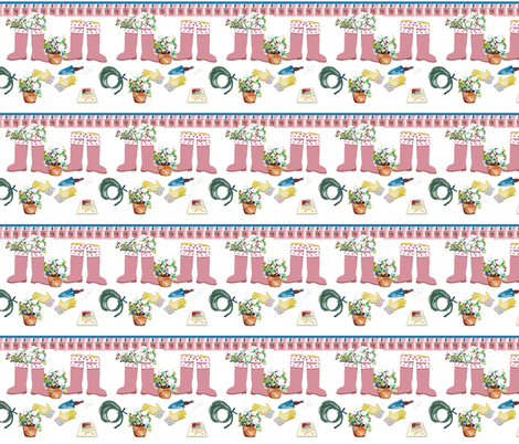 Petunia Boots fabric by karenharveycox on Spoonflower - custom fabric