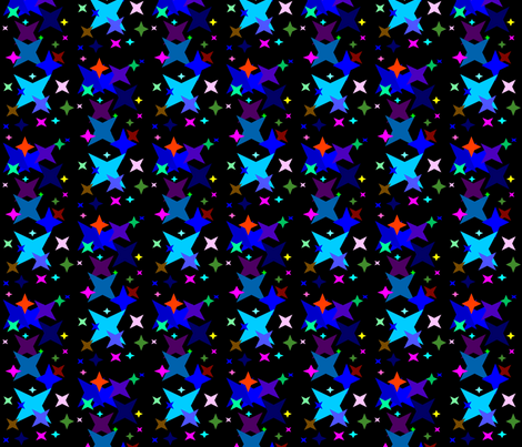 Glow in the dark fabric by retroretro on Spoonflower - custom fabric