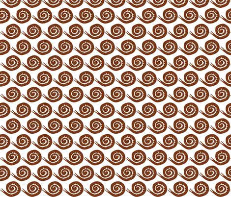 snails in brown mini fabric by ali*b on Spoonflower - custom fabric