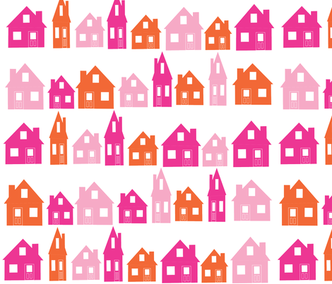 Background_Road_Houses_cirrus fabric by pink_koala_design on Spoonflower - custom fabric