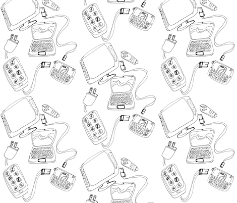 Plugged In fabric by kcs on Spoonflower - custom fabric