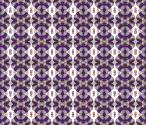 Painterly Purple Flowers fabric by elramsay on Spoonflower - custom fabric