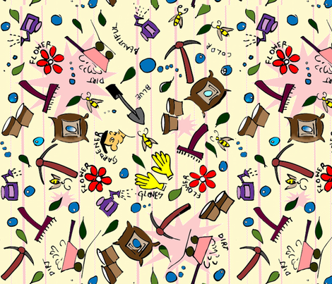 GardenMagic-ed fabric by austaash on Spoonflower - custom fabric