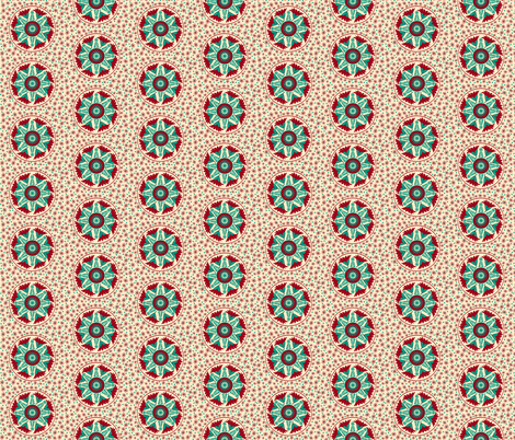 Elizabeths Regency Embroidery half drop © Indigodaze2013 fabric by indigodaze on Spoonflower - custom fabric