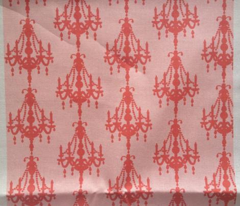 chandelier cheer in pink