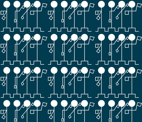 Semaphore for HELP! fabric by anniedeb on Spoonflower - custom fabric