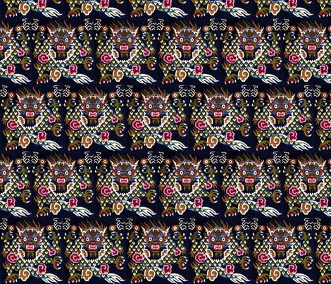 Tibetian Prayer Rug Motif. fabric by santa_allen on Spoonflower - custom fabric