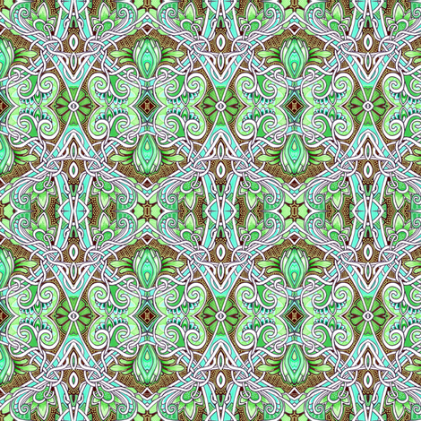 Hooked on Artichokes (a tangled circle of paisley) fabric by edsel2084 on Spoonflower - custom fabric