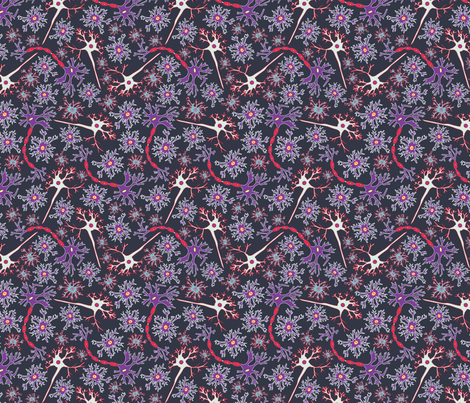 Neuron Nerd fabric by mag-o on Spoonflower - custom fabric