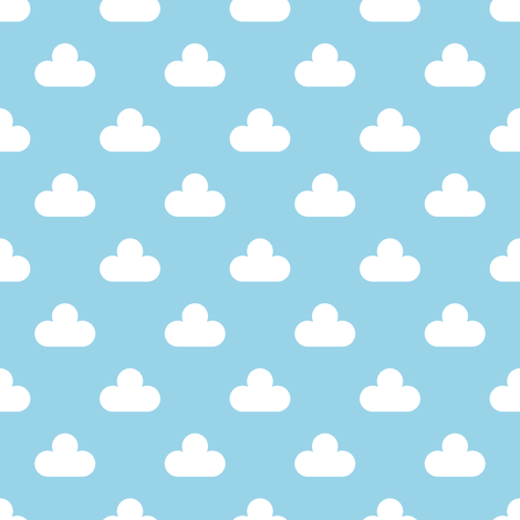 cumulus cloud polka-dot fabric by sef on Spoonflower - custom fabric