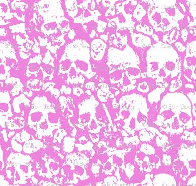 Skull Wall Pink.