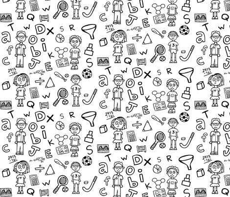 Growing Up Geek fabric by discoverydoodles on Spoonflower - custom fabric