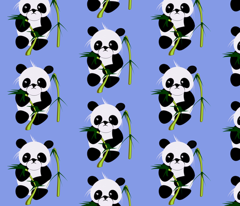 Panda fabric by retroretro on Spoonflower - custom fabric