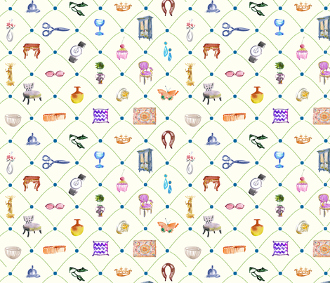 cestlaviv_fine finds (fashion) fabric by cest_la_viv on Spoonflower - custom fabric