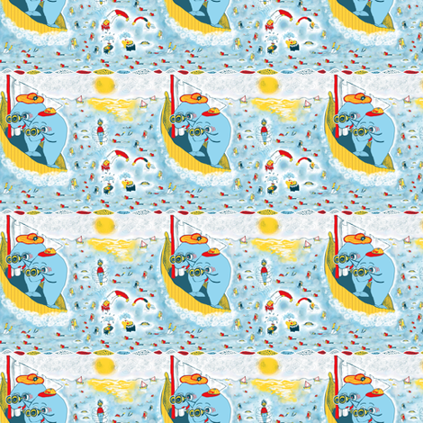 Look, Honey! The Humans are Migrating again!!!!  fabric by amy_g on Spoonflower - custom fabric