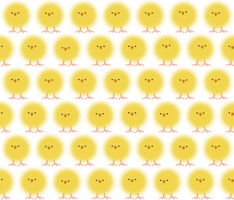 chicks fabric by melhales on Spoonflower - custom fabric