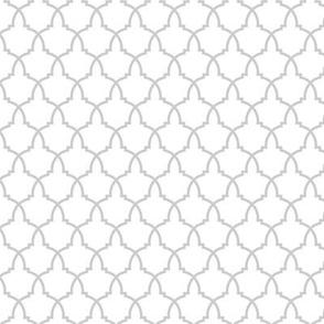 Lattice in Grey and White