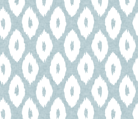 Ikat_Polka_Dot_Birds_Egg fabric by crisbucknall on Spoonflower - custom fabric