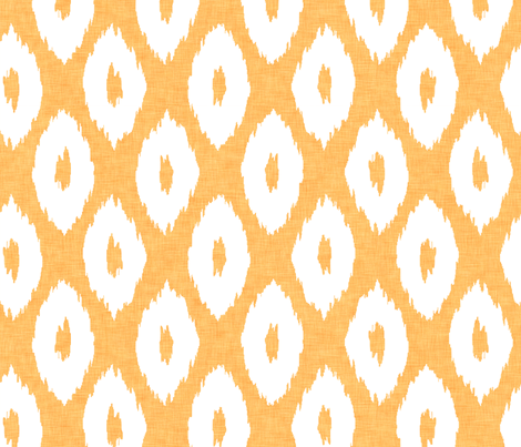 Ikat_Polka_Dot_Mango fabric by crisbucknall on Spoonflower - custom fabric