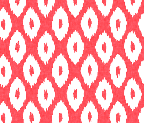 Ikat_Polka_Dot_Coral fabric by crisbucknall on Spoonflower - custom fabric