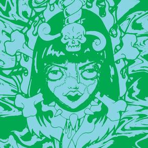 zombiegirl-blue-green
