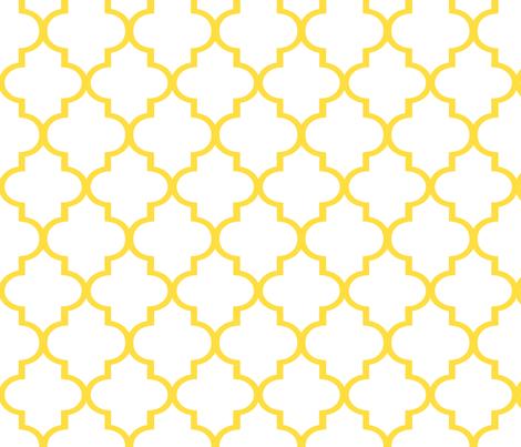 Lemon Quatrefoil fabric by sparrowsong on Spoonflower - custom fabric