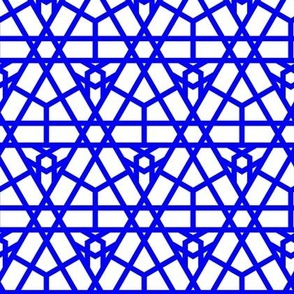 Geometric Stars in Blue and White