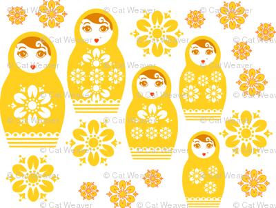 Nesting Dolls- Yellow