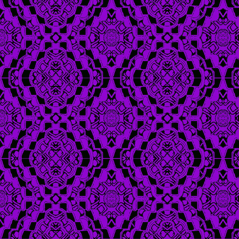 Purple flower lace bandana fabric by dk_designs on Spoonflower - custom fabric