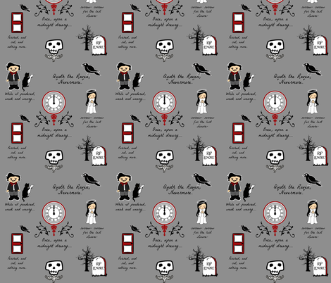 Little Poe Nevermore fabric by littleliteraryclassics on Spoonflower - custom fabric