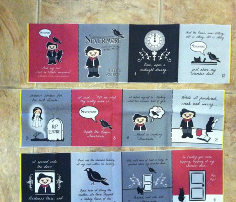 Nevermore Little Poe cloth fabric quiet book
