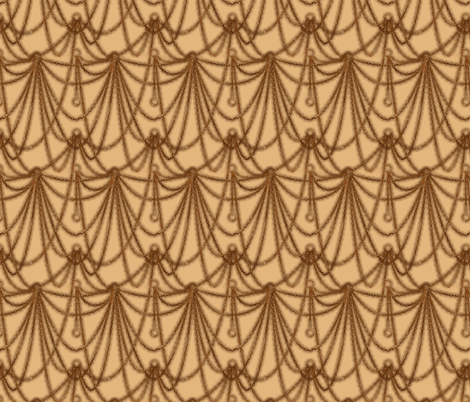 Watchchain drape--sepia fabric by artgarage on Spoonflower - custom fabric